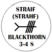 Straif - Blackthorn Ogham